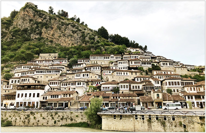 photo of a picturesque Albanian town