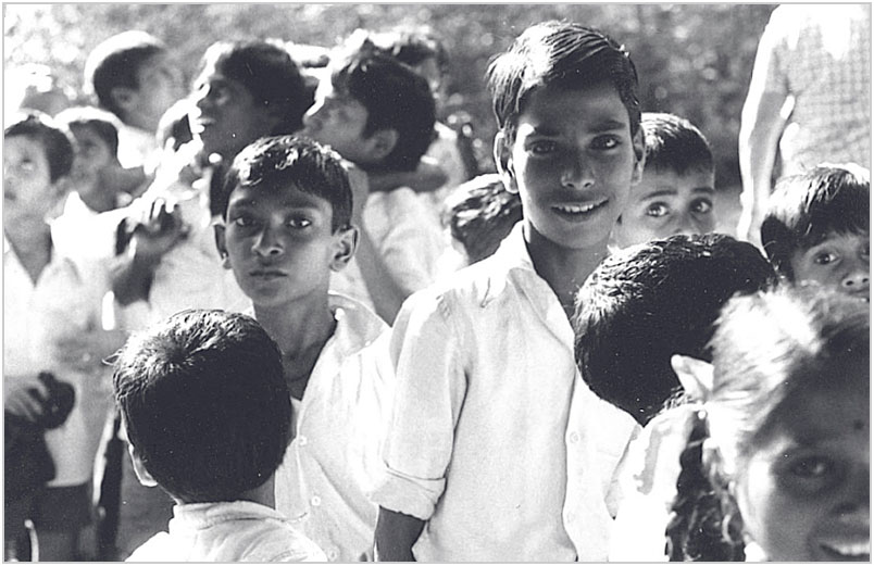A photo of a group of children from 1982